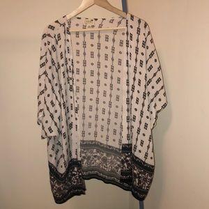 LA Hearts Short Sleeve Boho Kimono